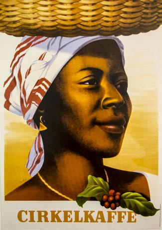 KF-affisch: Cirkelkaffe (kvinna)