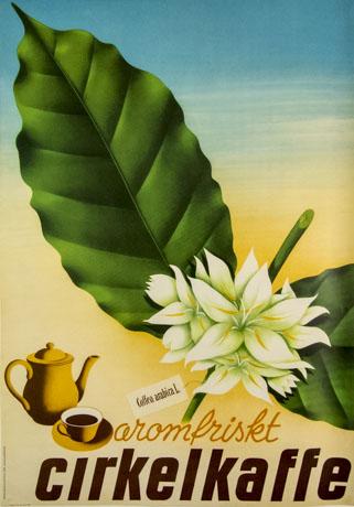 KF-affisch: aromfriskt cirkelkaffe