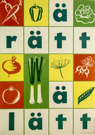 KF-affisch: ät rätt ät lätt
