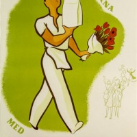 KF-affisch: Tur hos damerna med konsums goa småbröd