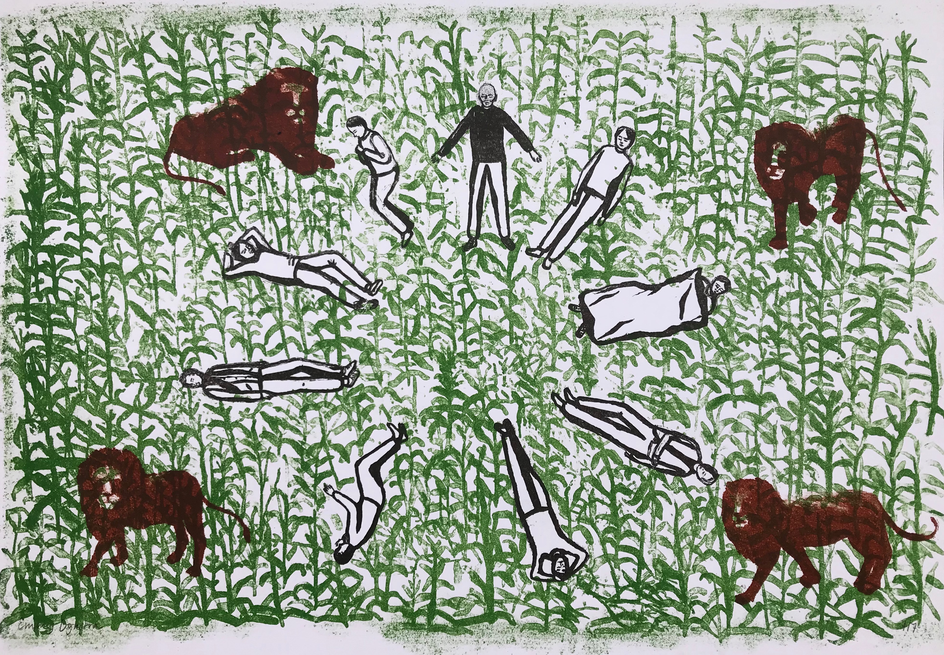 Emmy Dijkstra, We are hiding in the cornfield