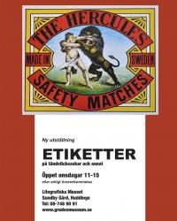 2010: ETIKETTER på tändstickor och annat