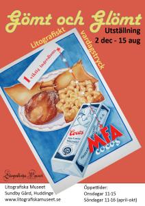 Affisch till utställningen Gömt och Glömt.